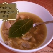 Heerlijk kruidige champignonsoep - Glutenvrij