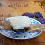 Mini Cashew Cheese Cake - Raw, Vegan