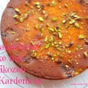 Amandelmeel Abrikozen cake met Kardemom en Vanille
