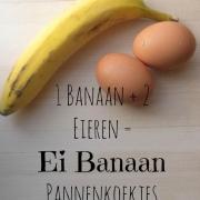 Kokos Banaan Ei Pannenkoekjes