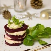 Geroosterde Biet en Rozemarijn Hummus voorgerecht