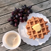 Eiwitrijke Notenpasta Wafels (Glutenvrij, Lactosevrij)