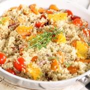 Zomerse Quinoa Salade met Sinaasappel en Tomaat