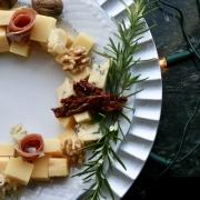 Kaas Kerstkrans - Een leuke manier om een kaasplank te serveren!