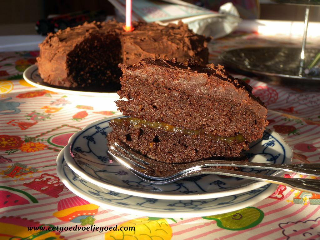 Favoriete Paleo Chocolade Verjaardagstaart voor Moeder - Eet Goed Voel je Goed YN-33