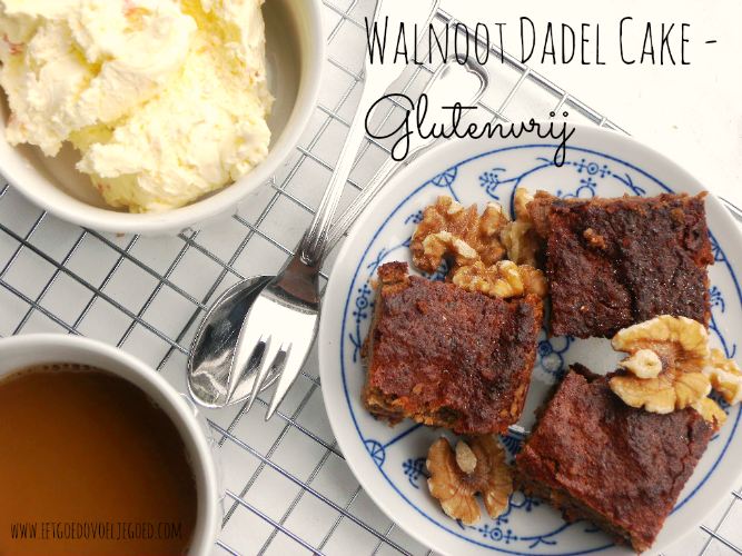 Walnoot-Dadel Cake - Glutenvrij