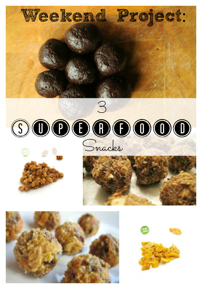 Weekend Project: 3 Superfood Snacks