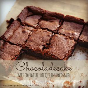 chocoladecake met courgette en bietjes