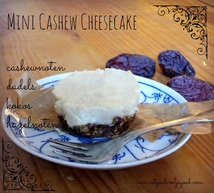 Mini Cashew Cheese Cake – Raw, Vegan