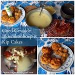 Goed Gevulde Bloemkoolsoep en Kip Cakes