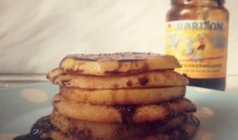 Haverpannenkoekjes met appel, om het af te leren…