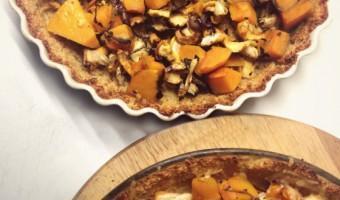 Vegetarische Pompoentaart met Quinoa bodem