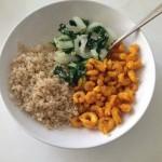 Jhinga Kurkure: Indiaase Gebakken Knoflook Garnalen met Paksoi en Quinoa