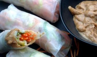 Vegan Groenterolletjes met Pittige Tahin Saus