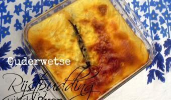 Ouderwetse Rijstpudding uit de Oven
