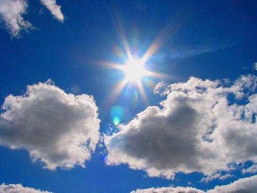 voorzichtig in de zon