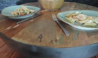 Recept zomerse spelt pasta salade en Review By Boo tafel