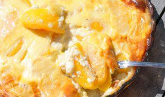 Perzik en Citroen Clafoutis – Glutenvrij & Lactosevrij