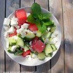 Watermeloen Salade en Fruitige IJsblokjes van Miss Natural