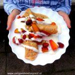 Glutenvrije Crêpes met Gebakken fruit en Yoghurt