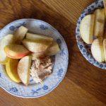 Kwark, Pindakaas en Stevia fruitdip
