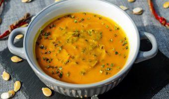 Pompoensoep met sinaasappel en gember
