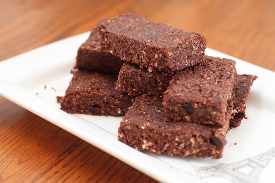 Rauwe vegan brownies