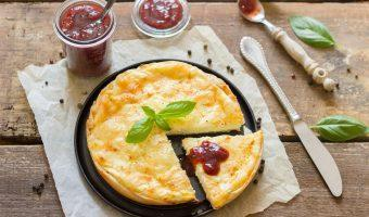 Geitenkaas Omelet met Vijgenjam