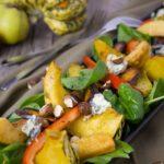 Salade met Geroosterde Pompoen, Appel en Blauwschimmelkaas