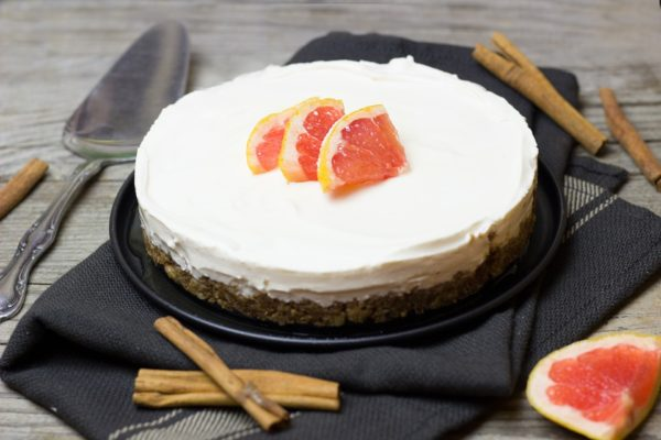 Grapefruit Vegan cheesecake
