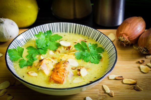 Kokos Curry Soep Zalm