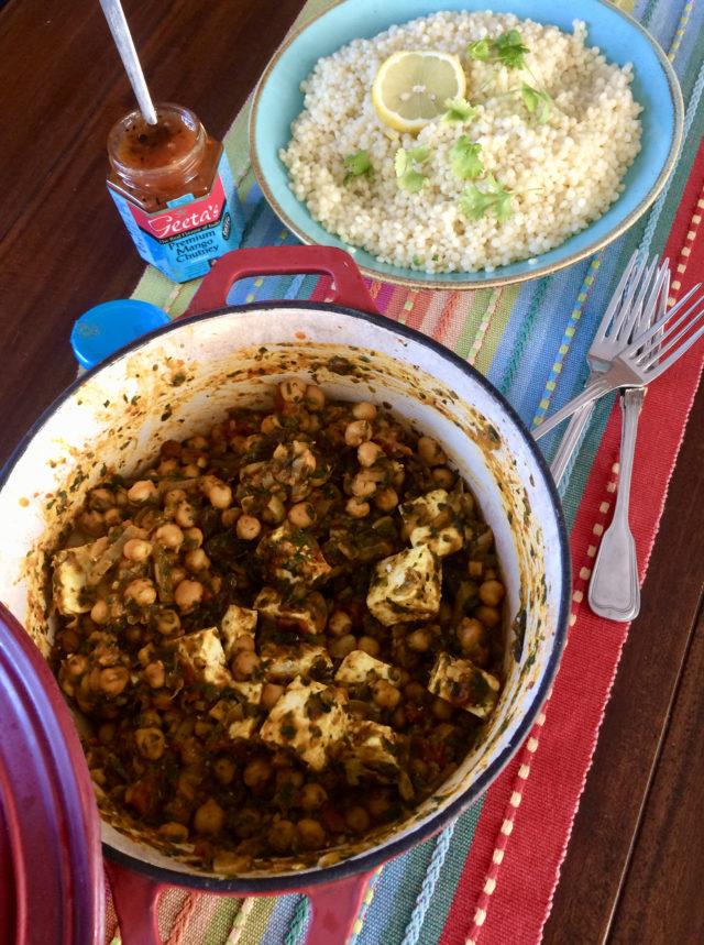 Kikkererwt en Paneer curry