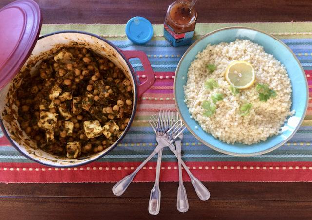 Paneer en Kikkererwt curry