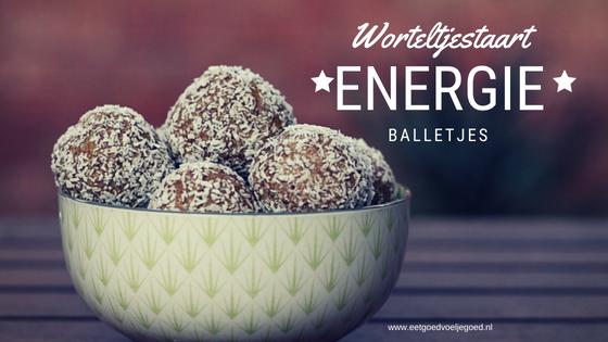 Worteltjestaart energie balletjes