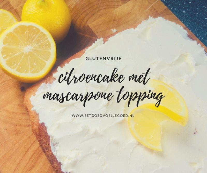 glutenvrije citroencake mascarpone
