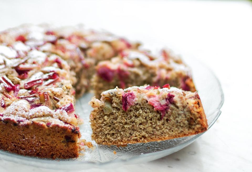 aardbei-rabarbercake