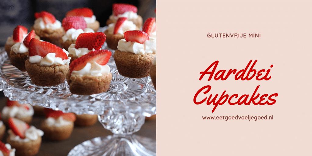 mini aardbei cupcakes - glutenvrij & suikervrij