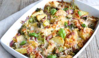 Broccoli aardappel ovenschotel