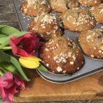 Glutenvrije Banaan & Rood Fruit Muffins