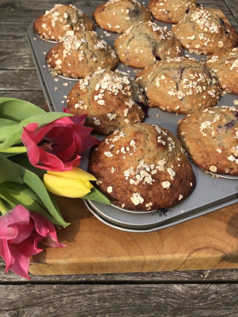 Glutenvrije Banaan en Rood Fruit Muffins