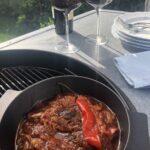 Goulash van Stoofvlees op de Barbecue