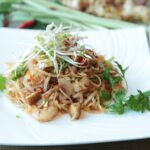 Glutenvrije Pad Thai met Garnalen en Rijstnoedels