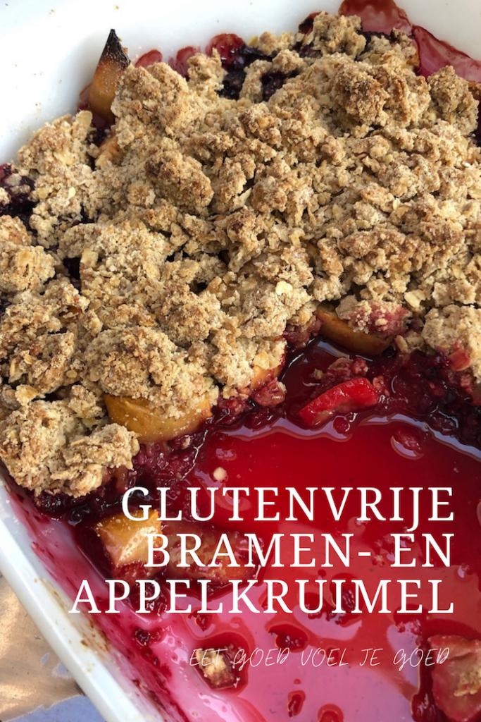 Glutenvrije bramen- en appelkruimel