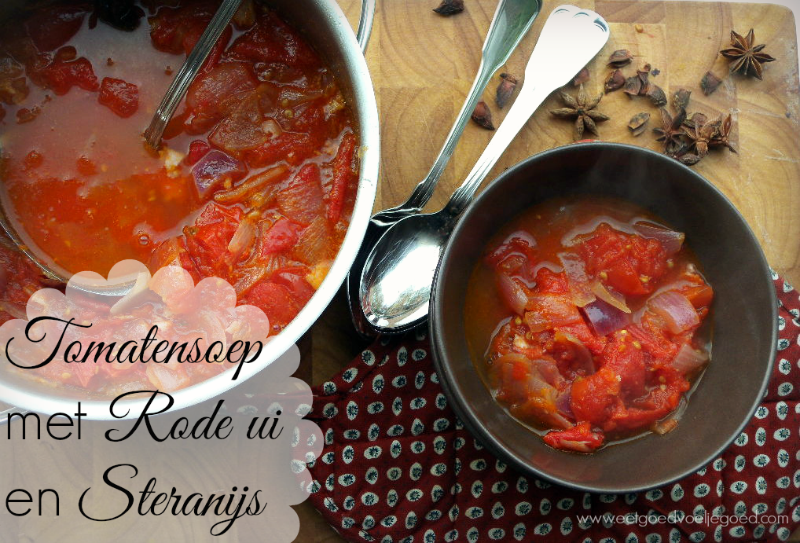Tomatensoep met rode ui en steranijs